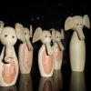 Elefanter i træ fra K.B Art